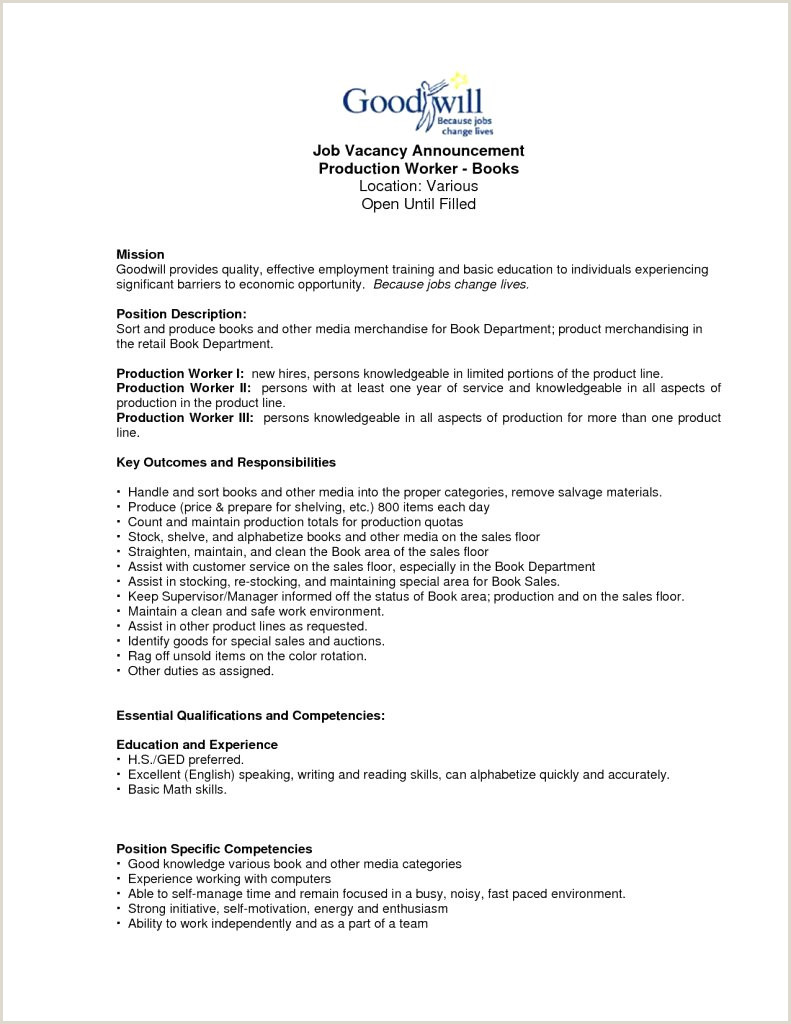 9 work experience resume examples fast food