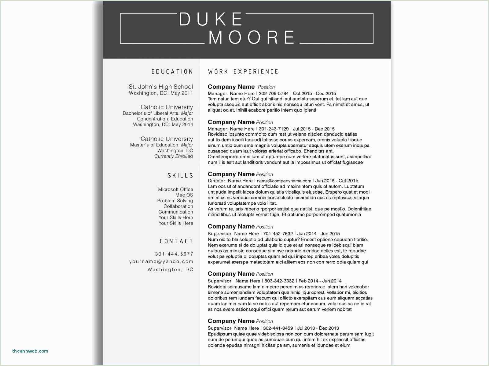 Resume Sample For Education Majors New Security Supervisor