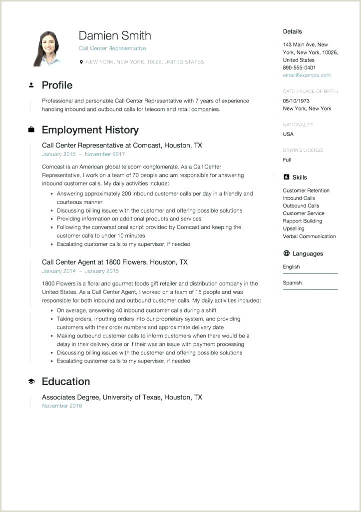 Resume for Call Center Agent without Experience Call Center Agent Sample Resume – M Labo
