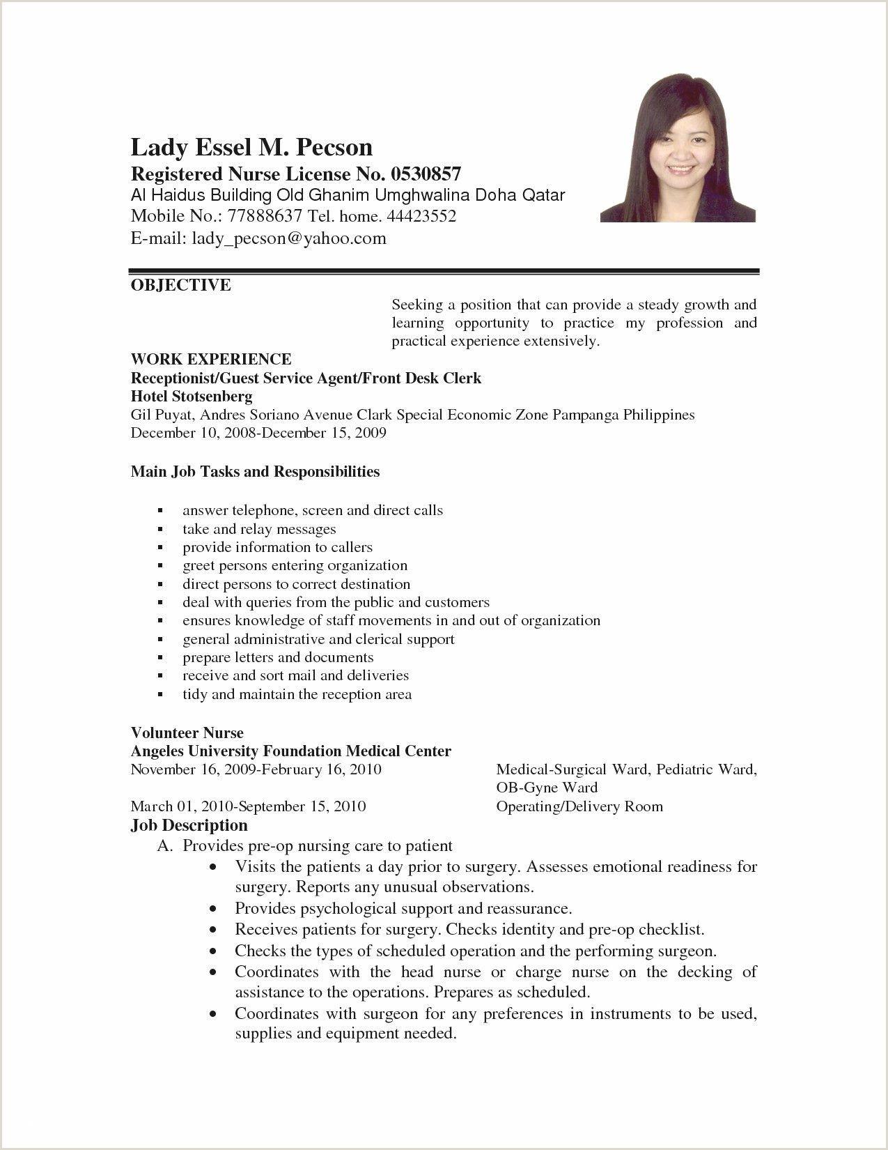 76 Elegant s Resume Examples for Call Center Jobs