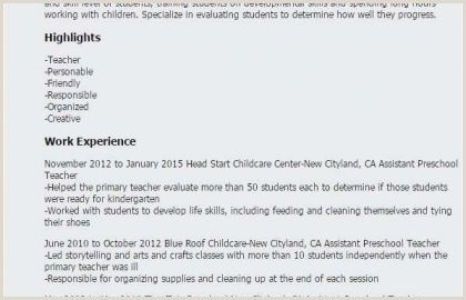 Resume for Child Care Child Care Resume Template New Child Care Resume Objective