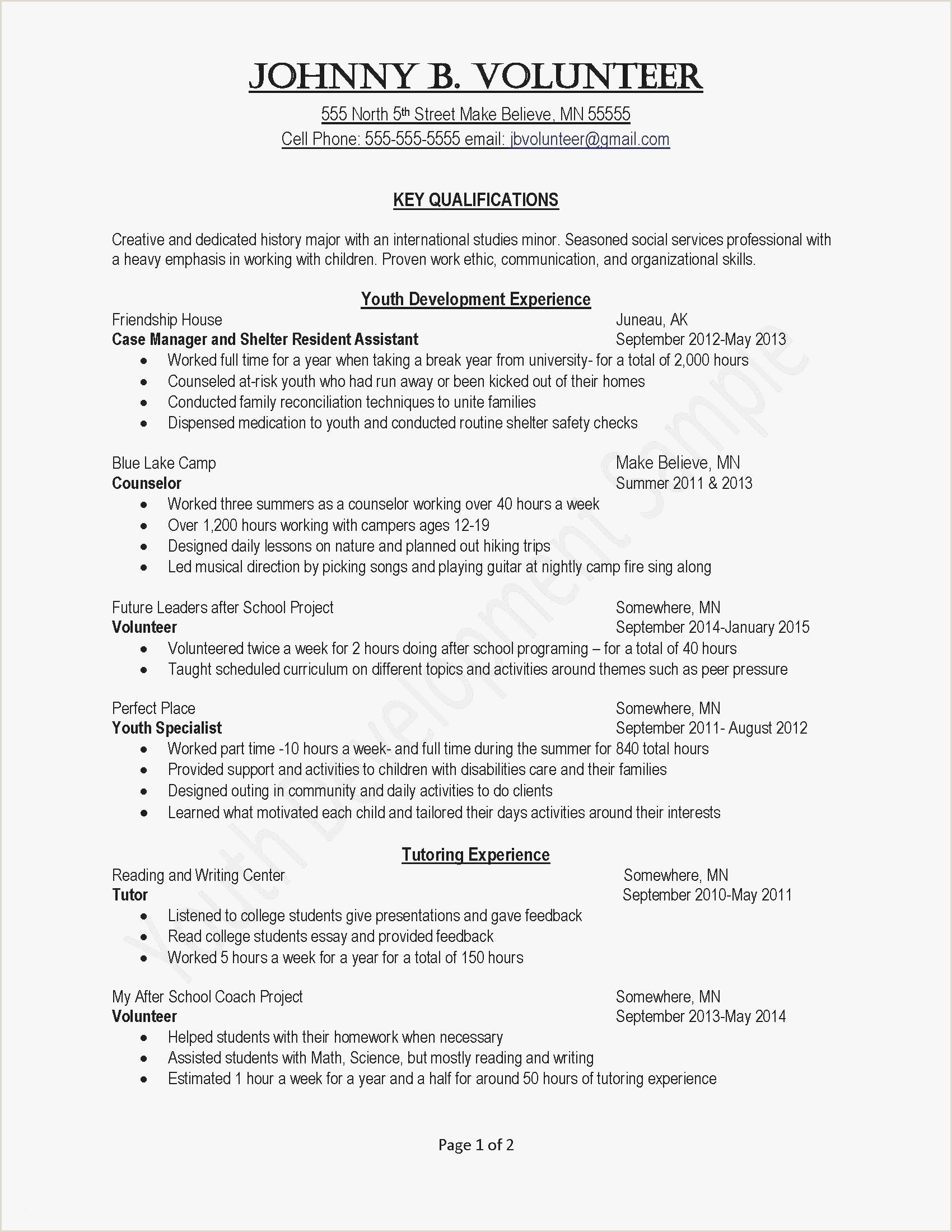 Resume for Child Care Job New Tutor Resume Sample