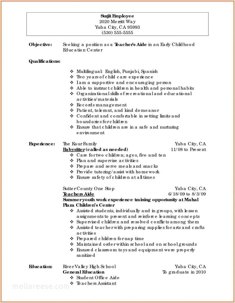 Resume For Child Care Worker 20 Unique Childcare Quotes