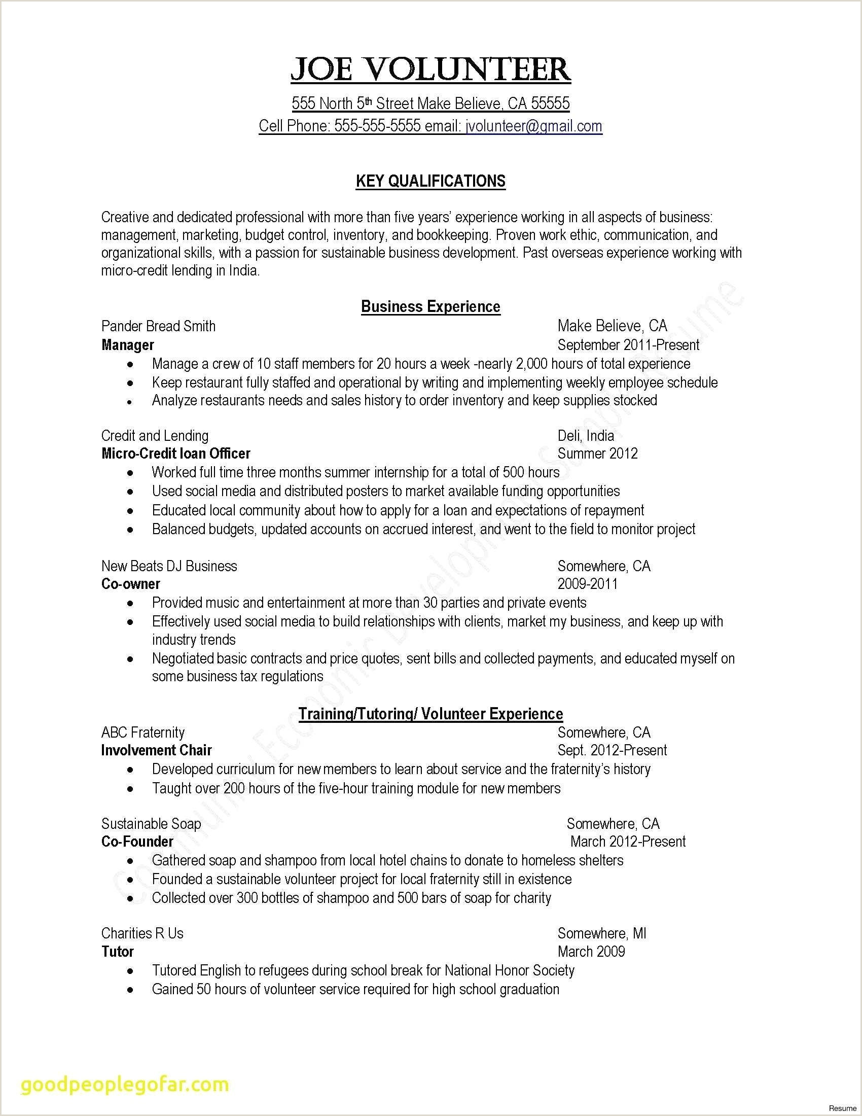 Resume for Child Caregiver Inspirational Child Caregiver Resume