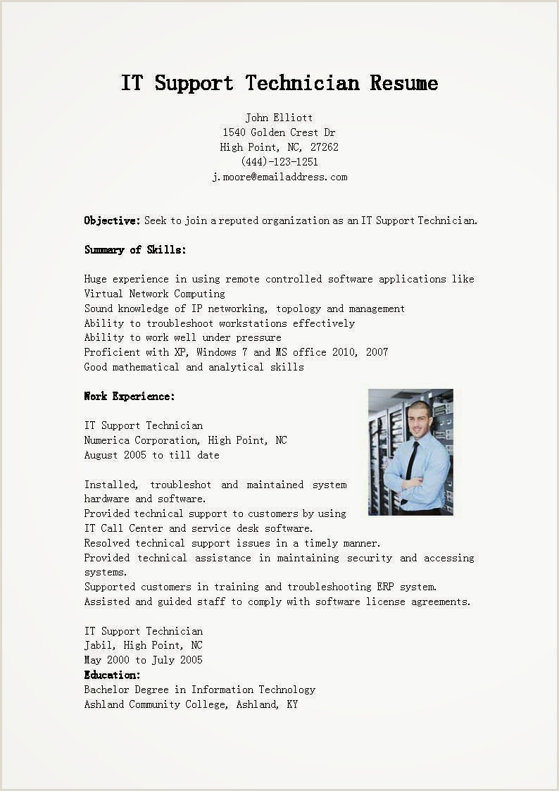 11 It Support Resume Examples 2014