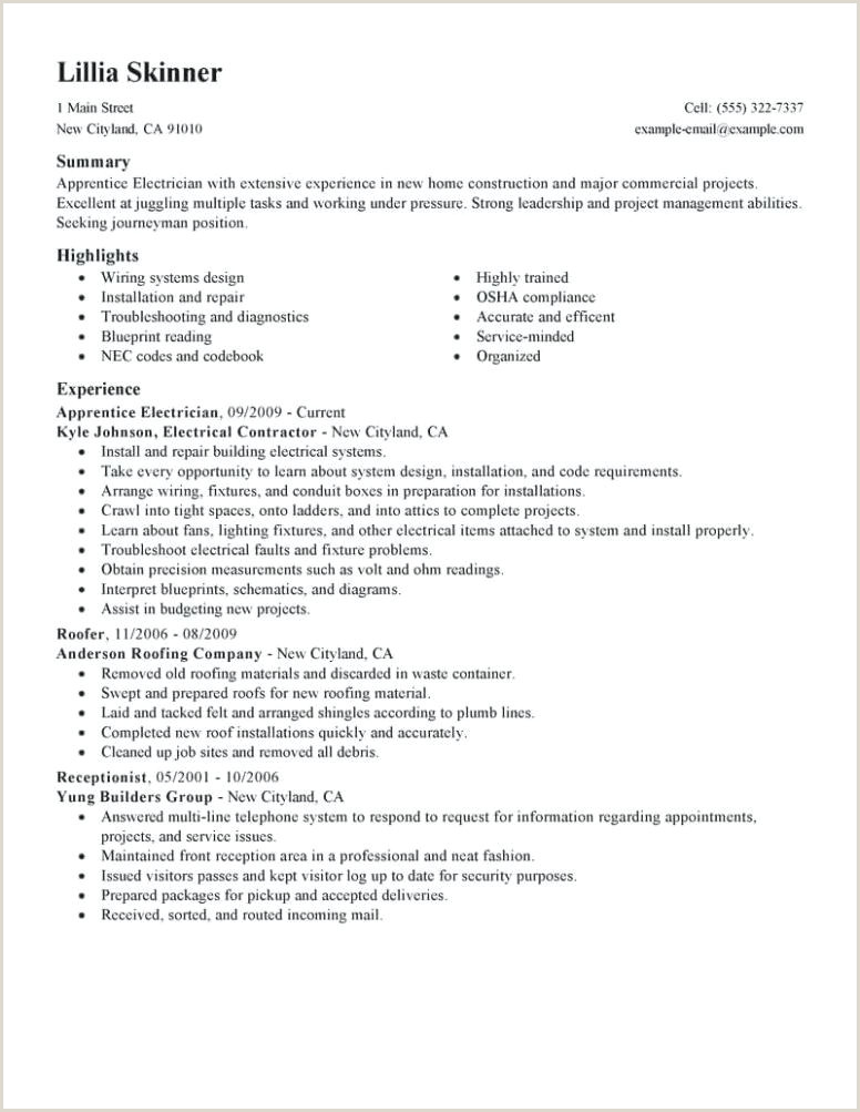 Resume for Electrical Apprenticeship Electrician Helper Resume – Viragoemotion