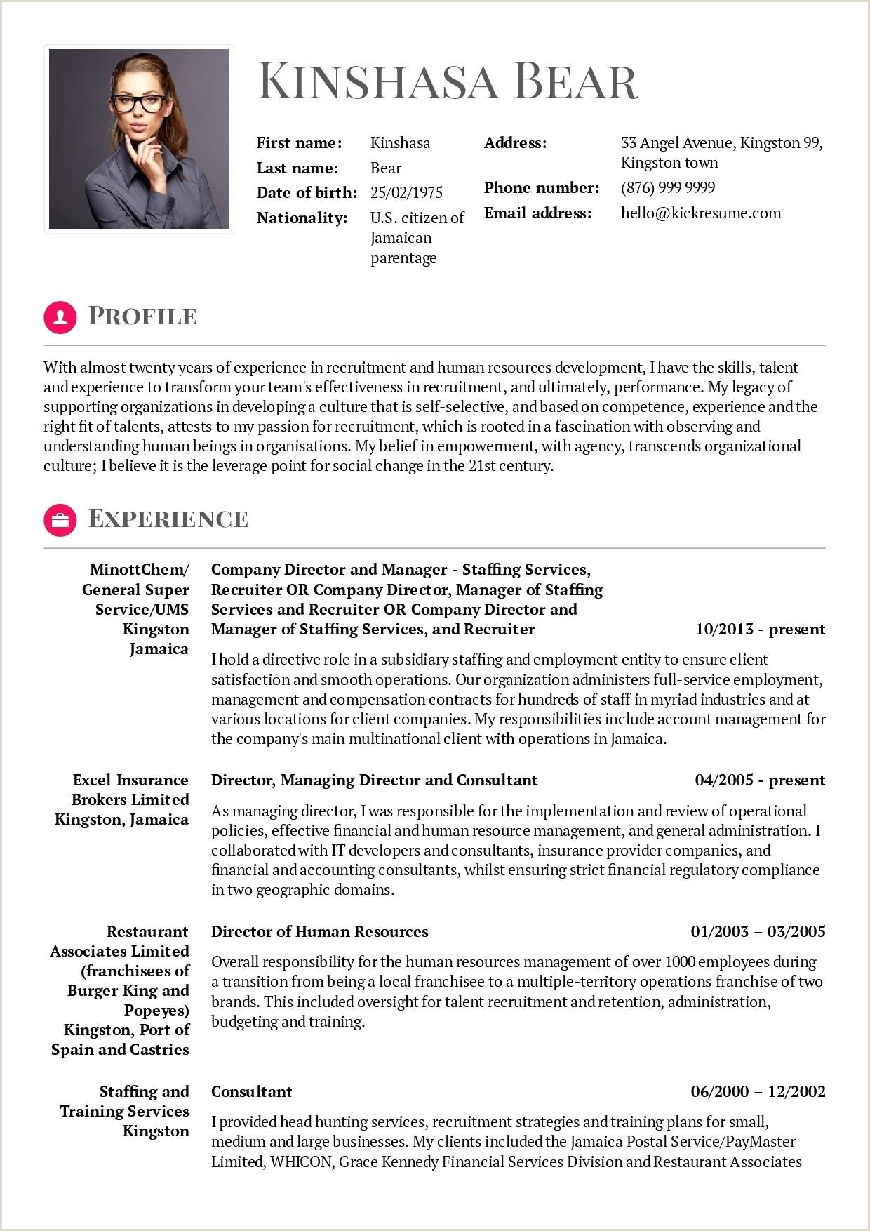 Fresh Financial Consultant Resume Sample