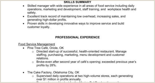 Resume for Food Service Food Service Resume Examples Examples Resume Examples for