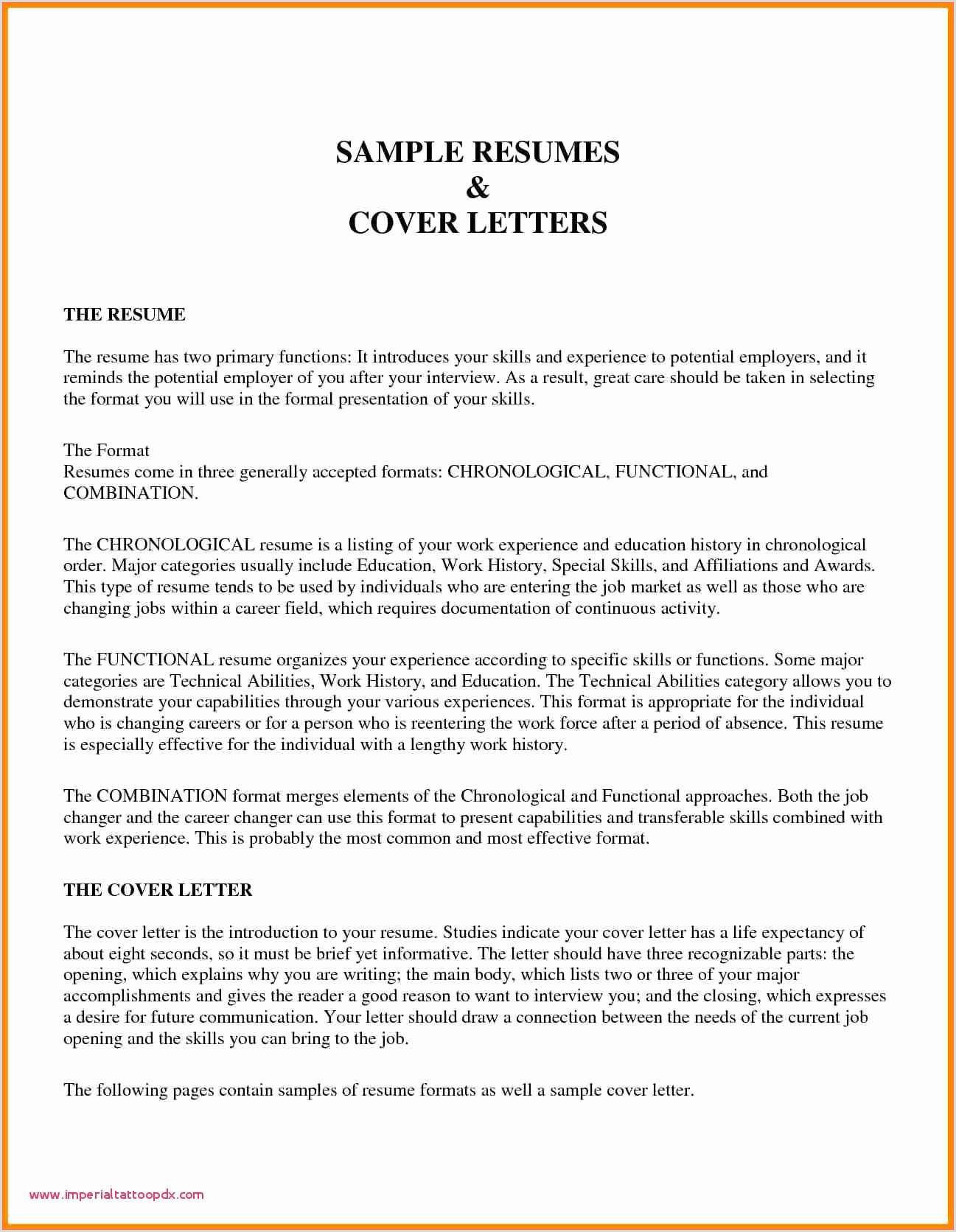 97 Resume Title Sample