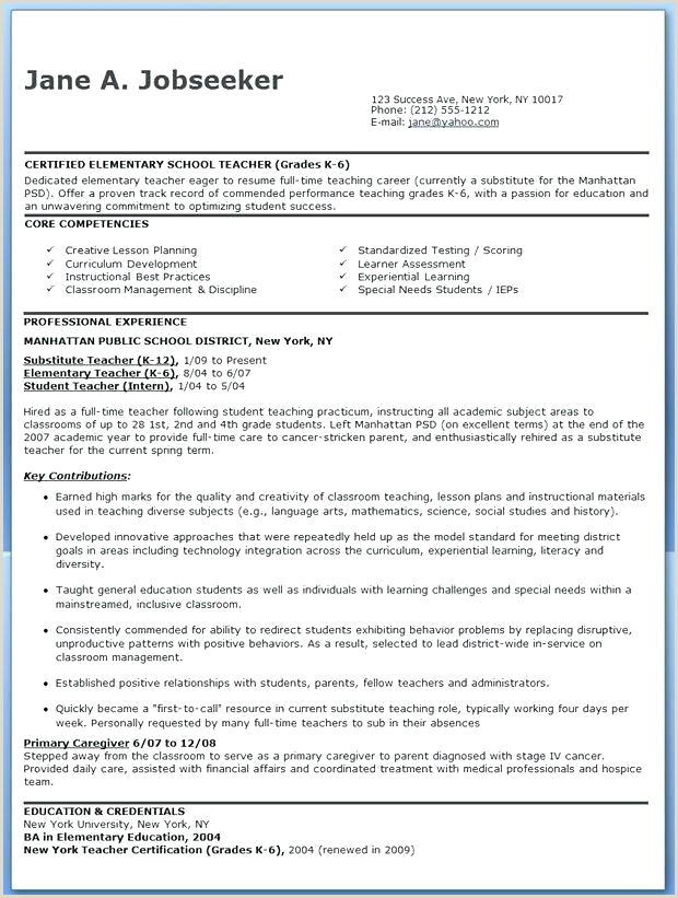 new teacher resume template