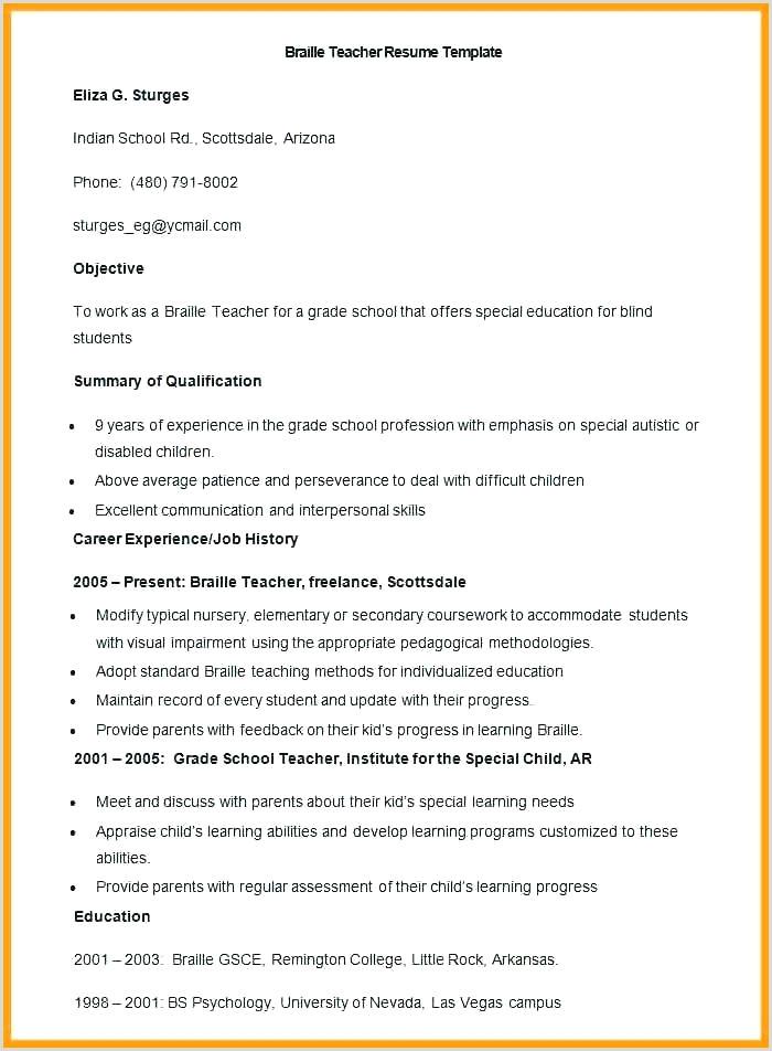 resume teacher template – newskeyfo