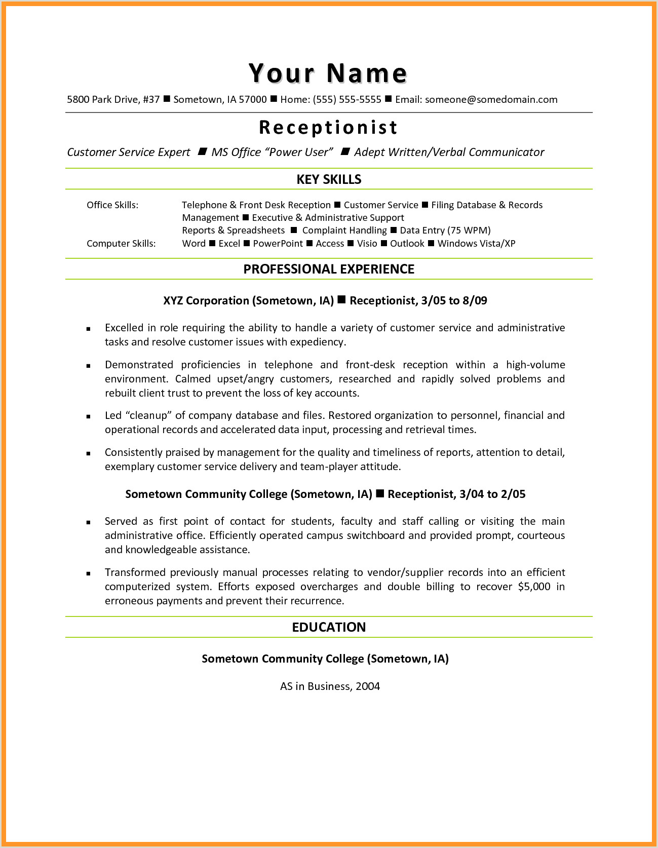 Resume for Front Desk Receptionist 12 13 Sample Resumes for Front Desk Receptionist