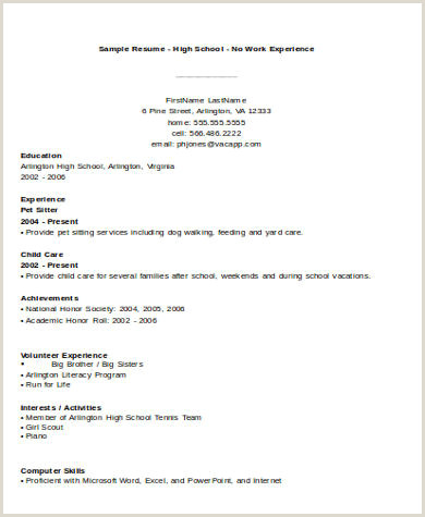 Resume for Hostess with No Experience No Experience Resume Sample 7 Examples In Word Pdf