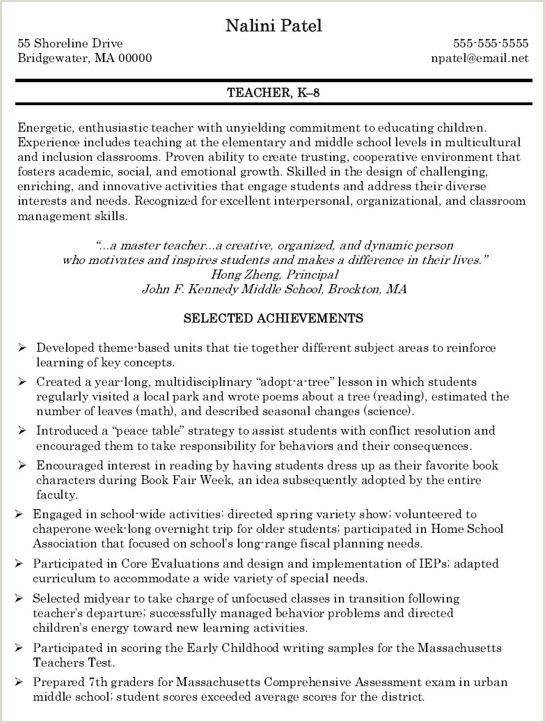 10 Transition To Teaching Resume Examples