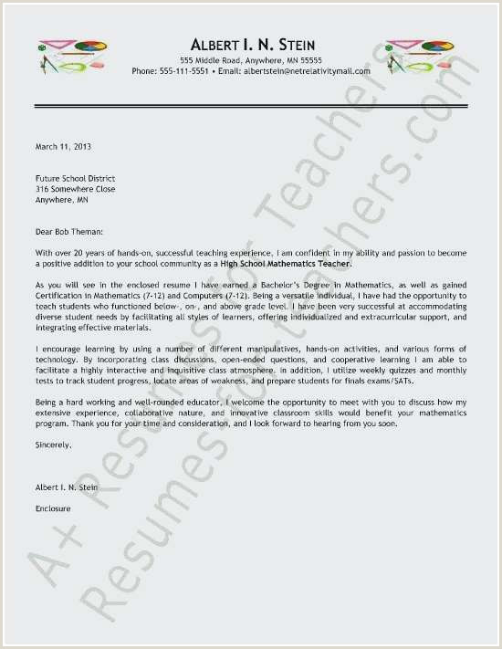 Mathematics Cover Letter Examples Best Resume Template