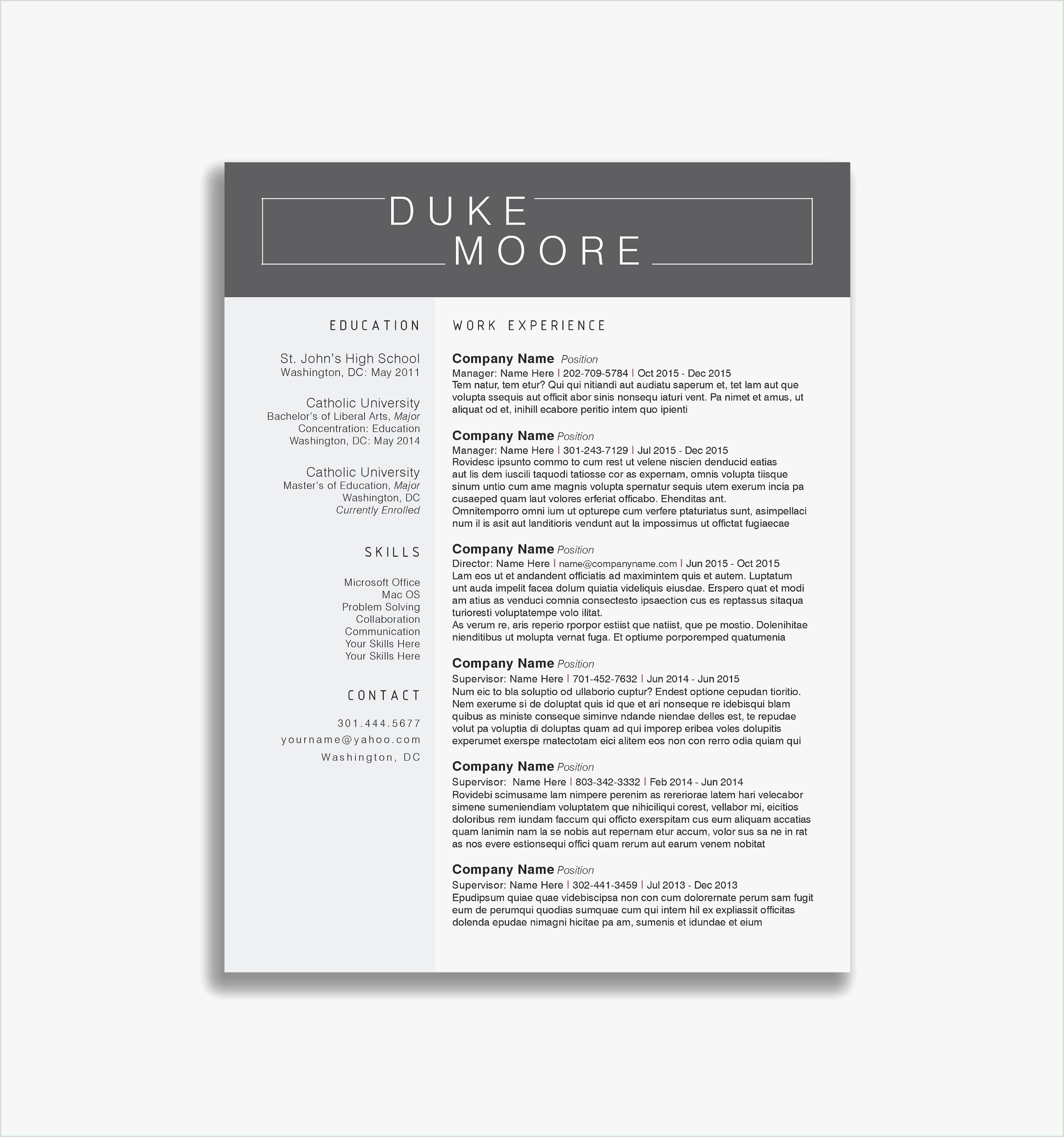 Free Resume Templates for Teachers Examples Sample Teaching