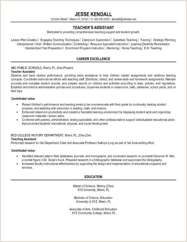 preschool aide sample resume – HA