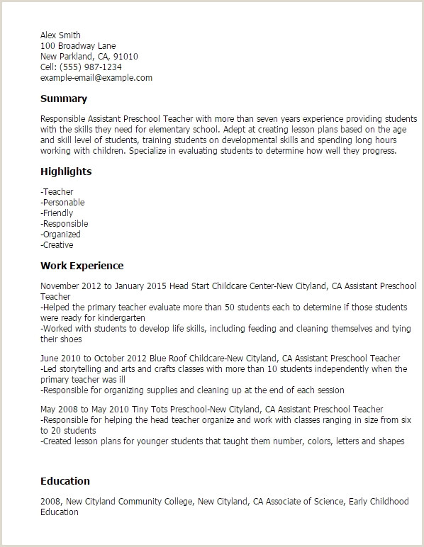 Simple Substitute Teacher Resume Objective Resume Design
