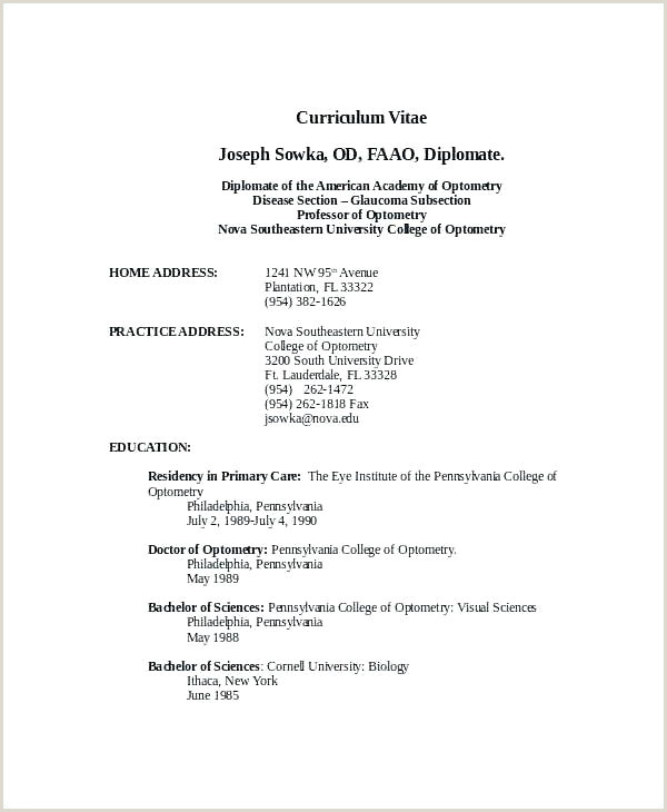 Resume for Teaching Job Fresher Curriculum Vitae Template Pdf