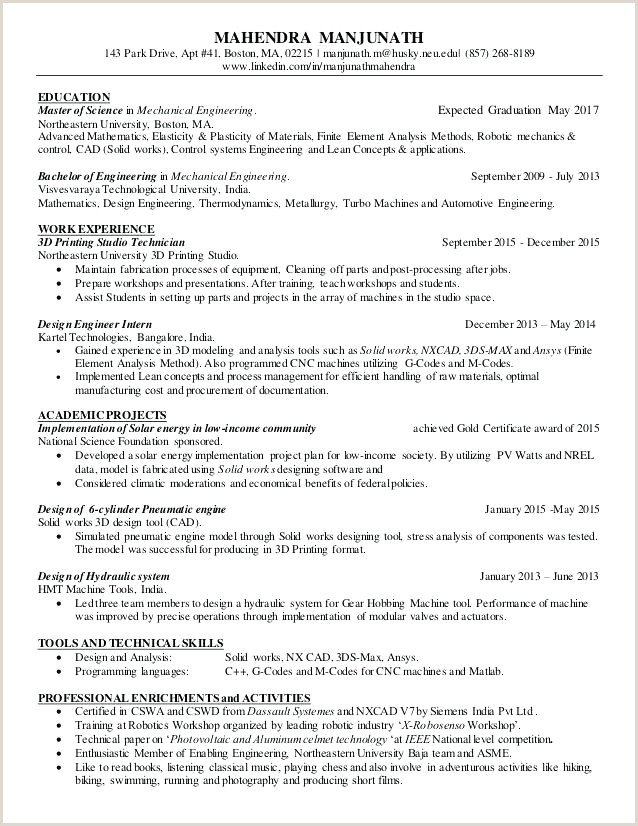 New Resume Samples for Freshers In India Resume Design
