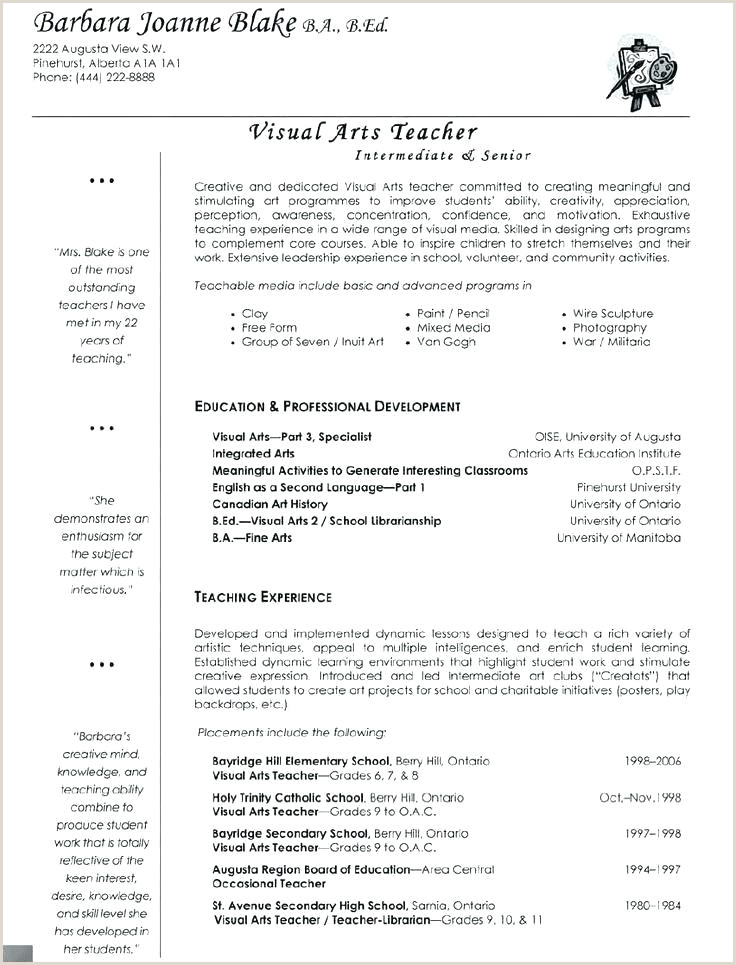 resume template for teaching position