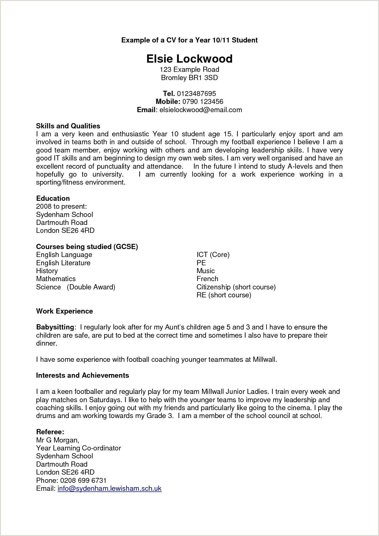 Resume Examples Year 10 Resume Examples