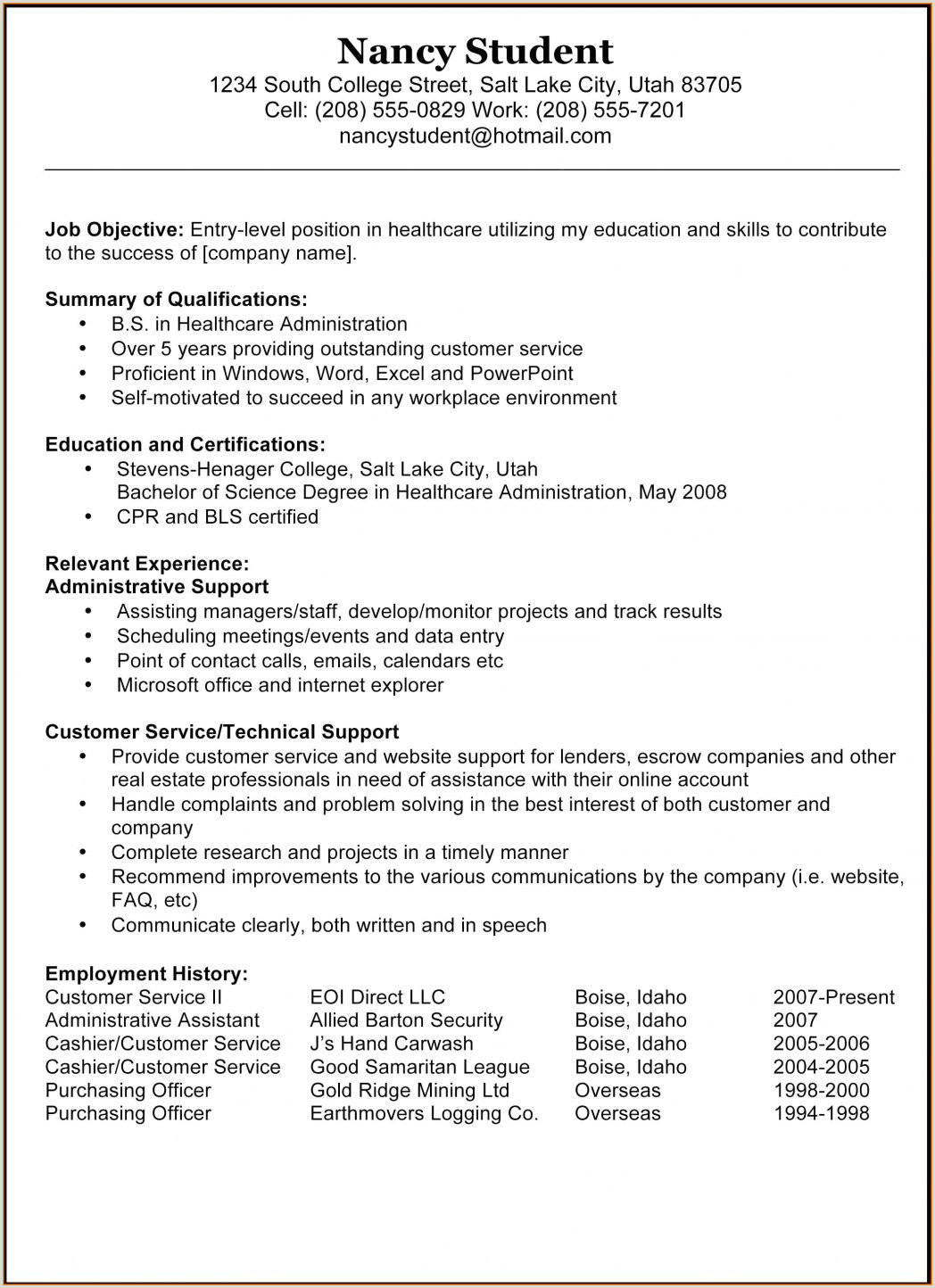 Resume for Work Experience Year 10 Resume for Receptionist with No Experience Unique Nanny