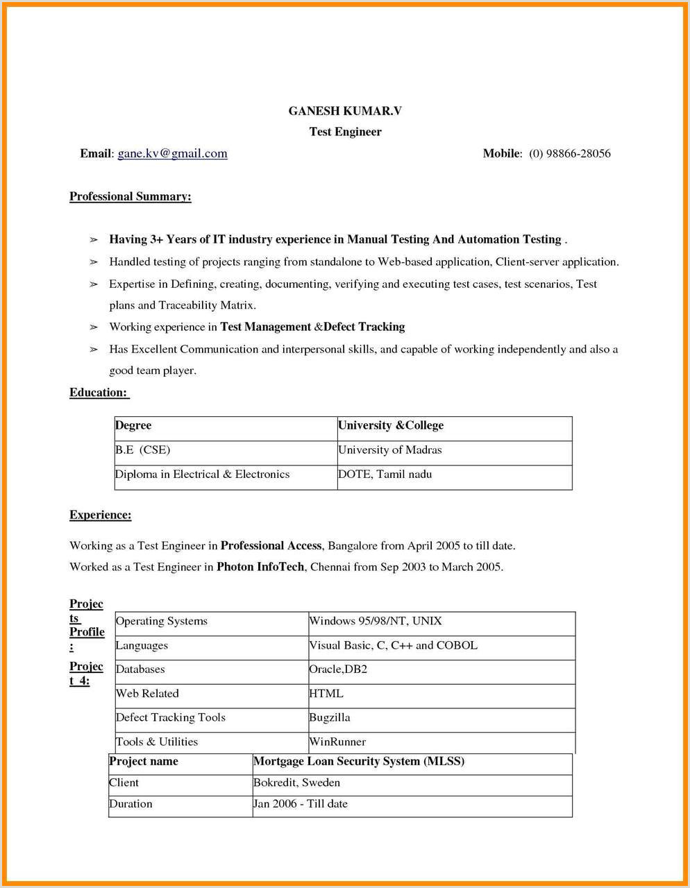 Resume Format Download In Ms Word 2007 For Freshers Free Ms Resume Templates Examples Two Column Resume Template