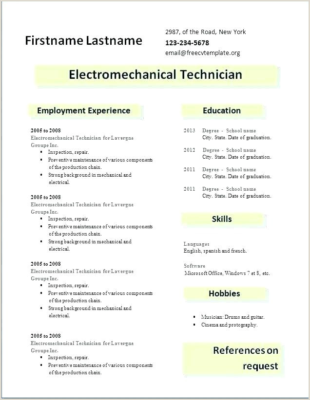 Resume format Download In Ms Word for Fresher Civil Engineer Sample Resume format for Freshers Engineers Best Free