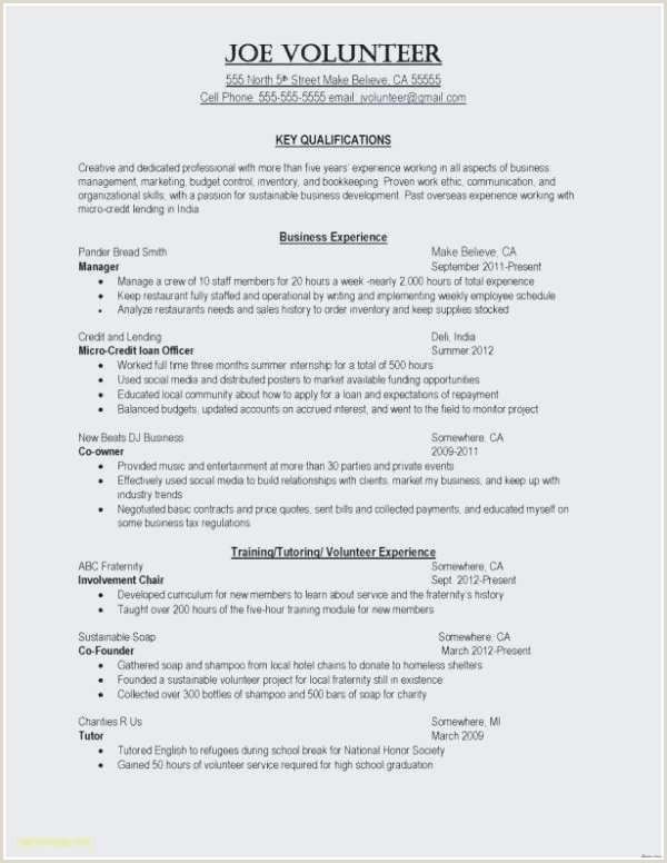 Resume Template Examples Free New Resume Template Samples