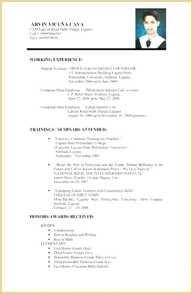 First Job Resume Templates First Resume Templates Doc Free