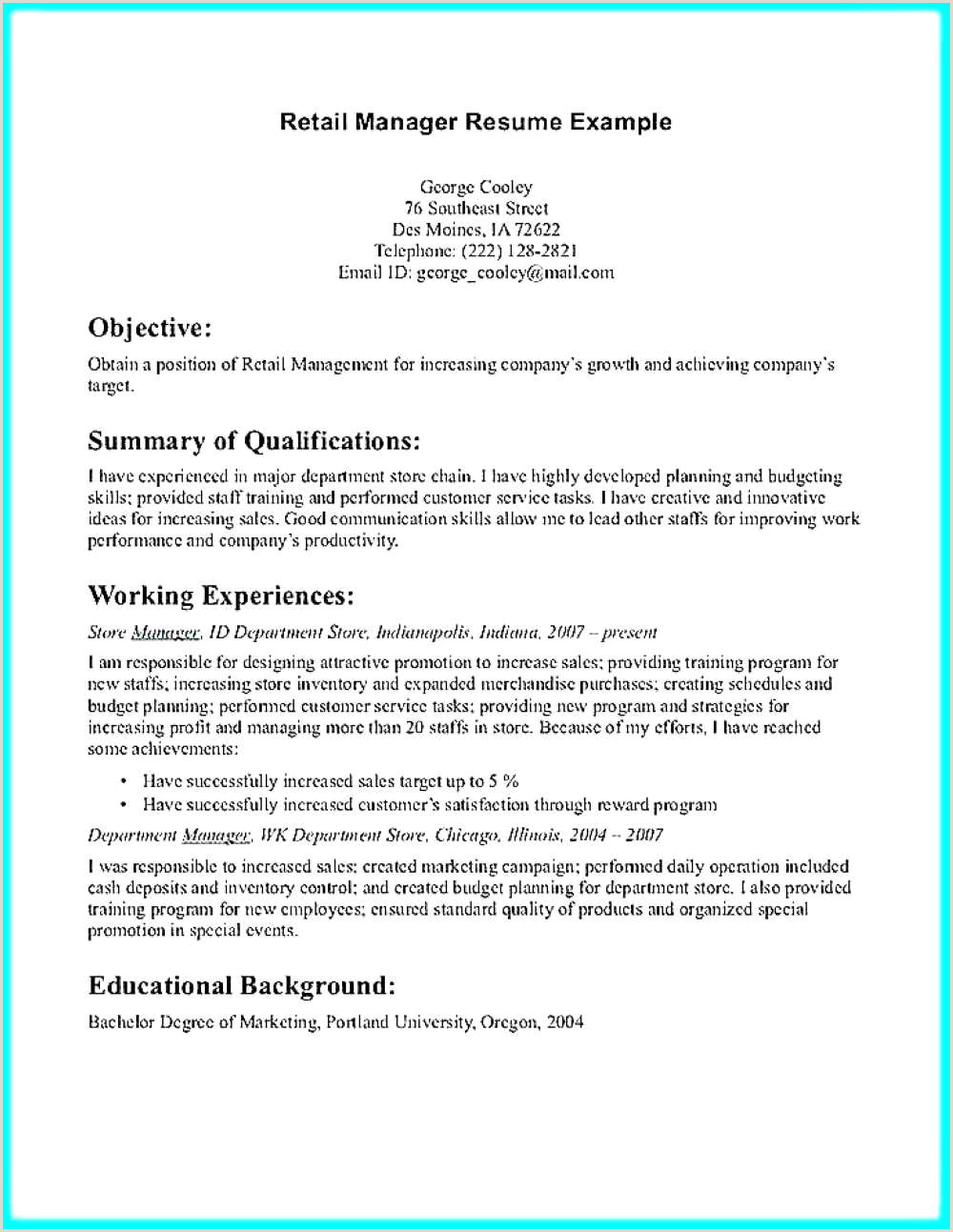 Resume format for Bank Job Pdf Download 2 Years Retail Banking Experience Resume format Download