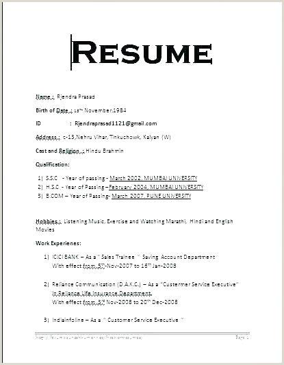 Resume Format Job Format Resume Resumeformat – Admin Linda