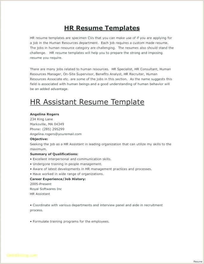 Resume format for Bpo Jobs Pdf Resume Template Pdf