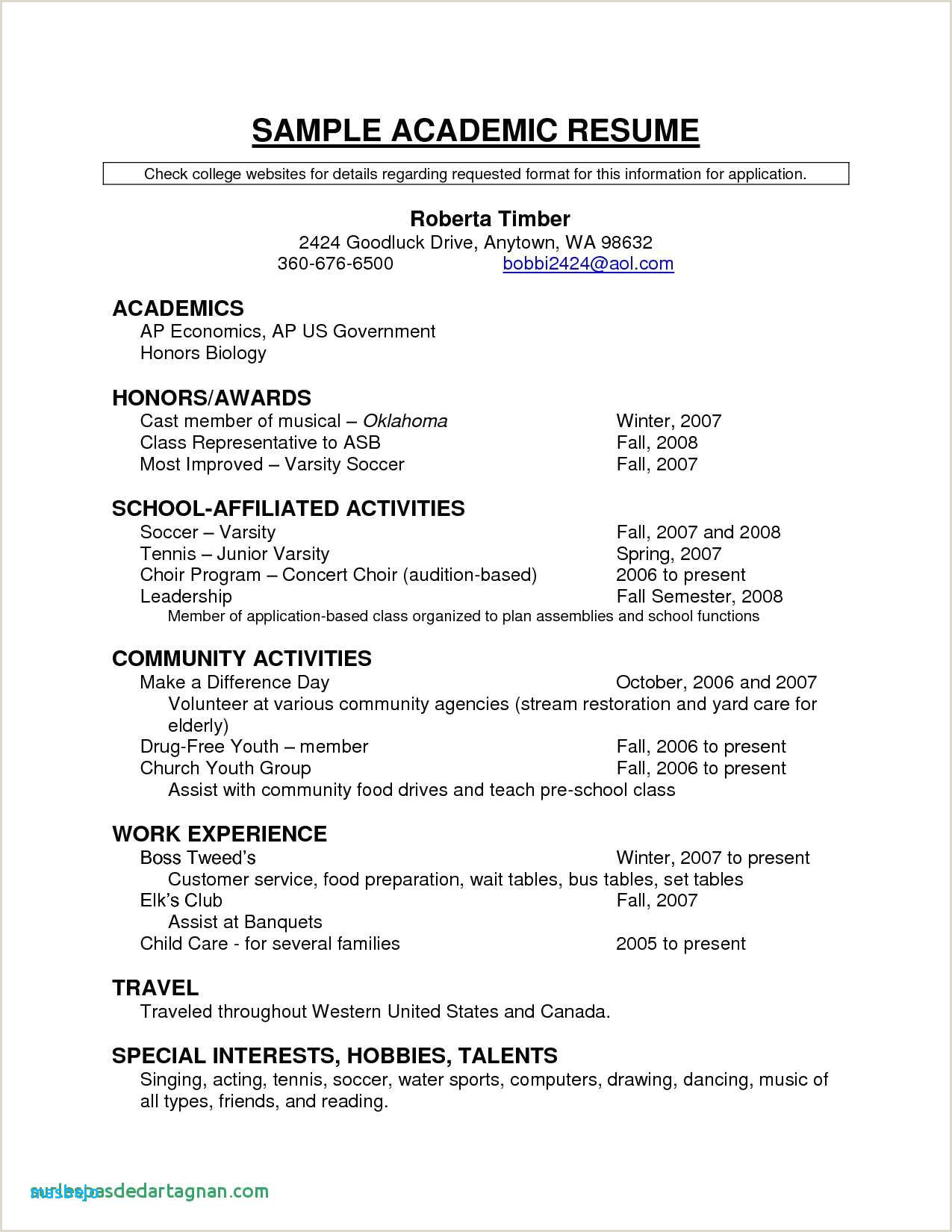 Resume format for Canada Job 33 New Audition Cover Letter Sample S