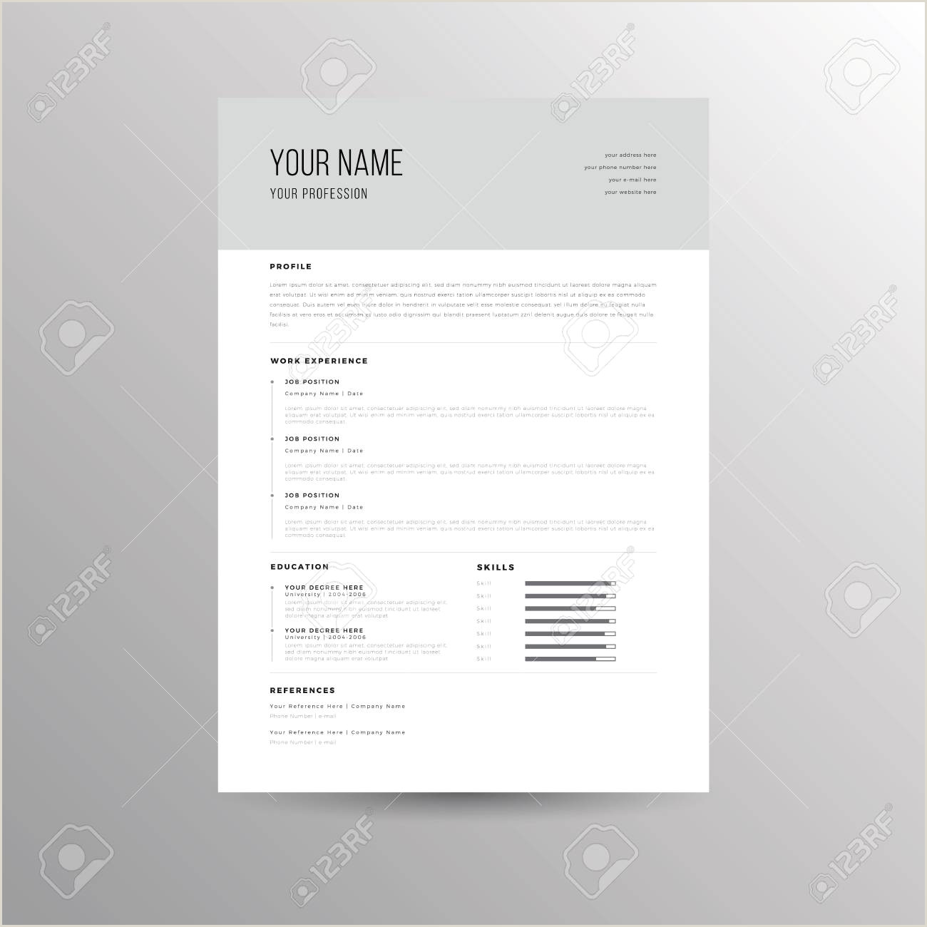 Resume Format For Company Job Cv Resume Template For Job Applications