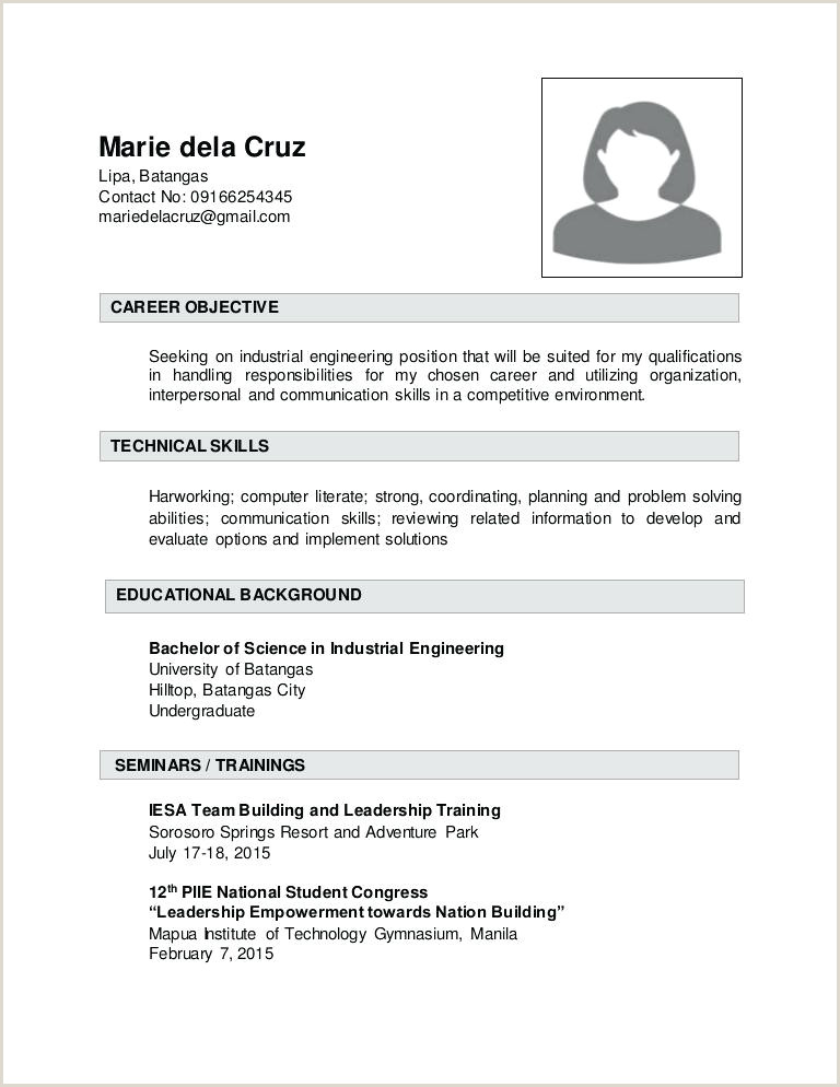 Resume format for Electrician Job Industrial Resume Template – Jameshuntcode