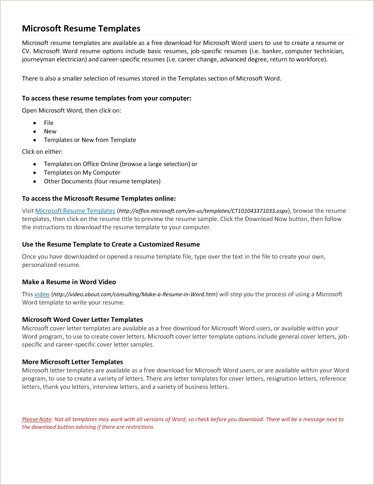 Resume format for Electrician Job Template for Resume Microsoft Word – Salumguilher