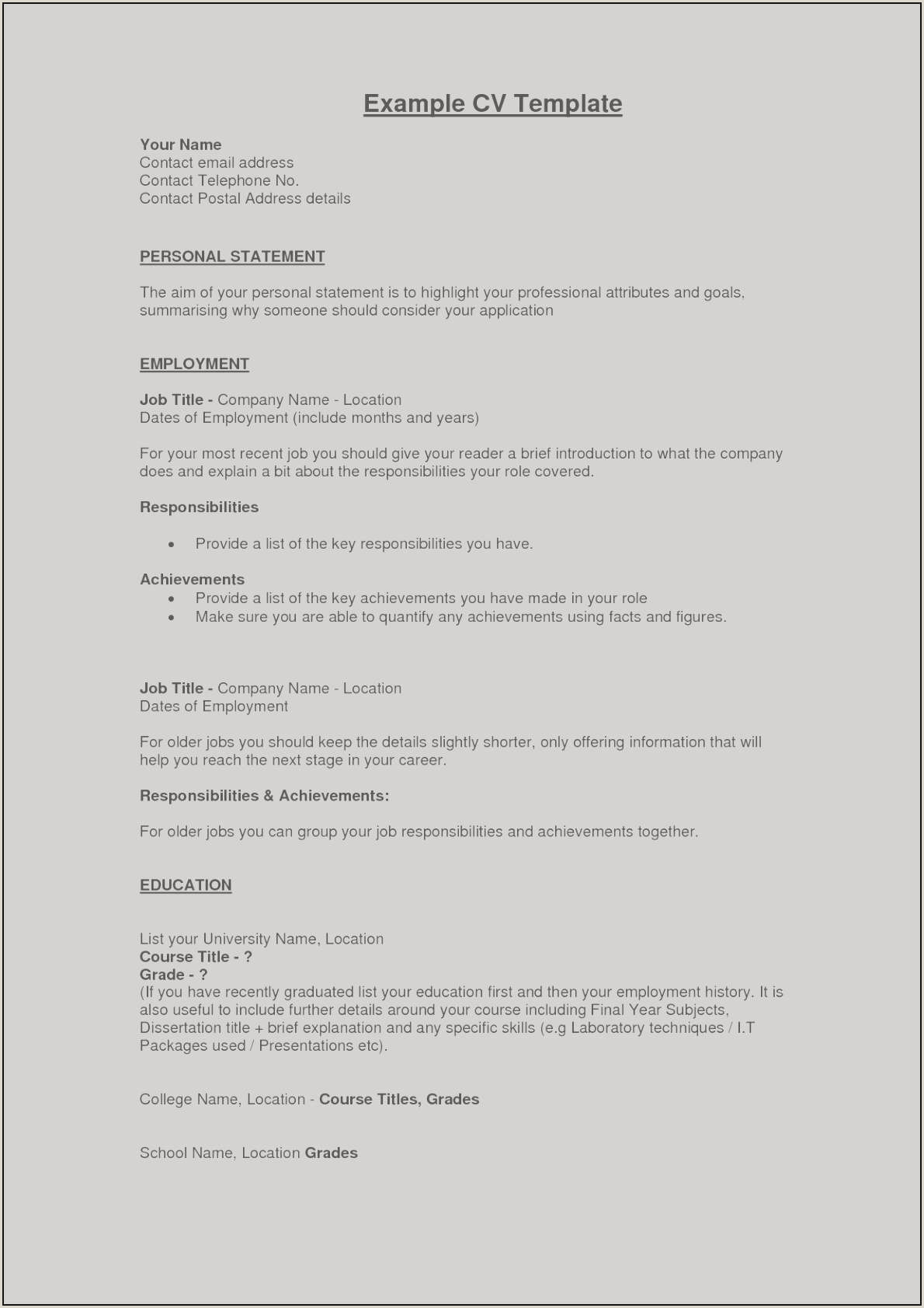 Resume format for First Job Luxury Examples Resumes for First Job
