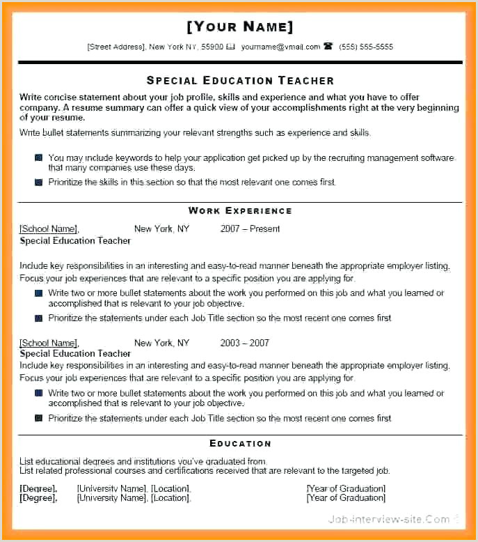 Resume format for Fresher Teacher Job Easy Resume format – Kinocosmo