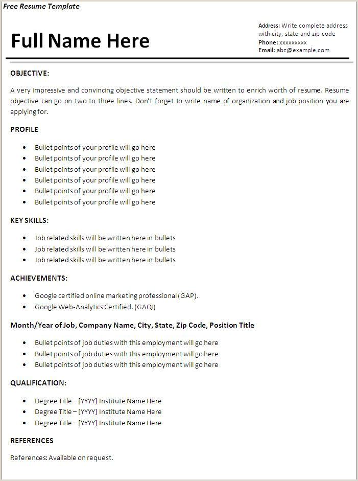 Resume Format For Garments Job Resume Format Examples For Job Resume Templates