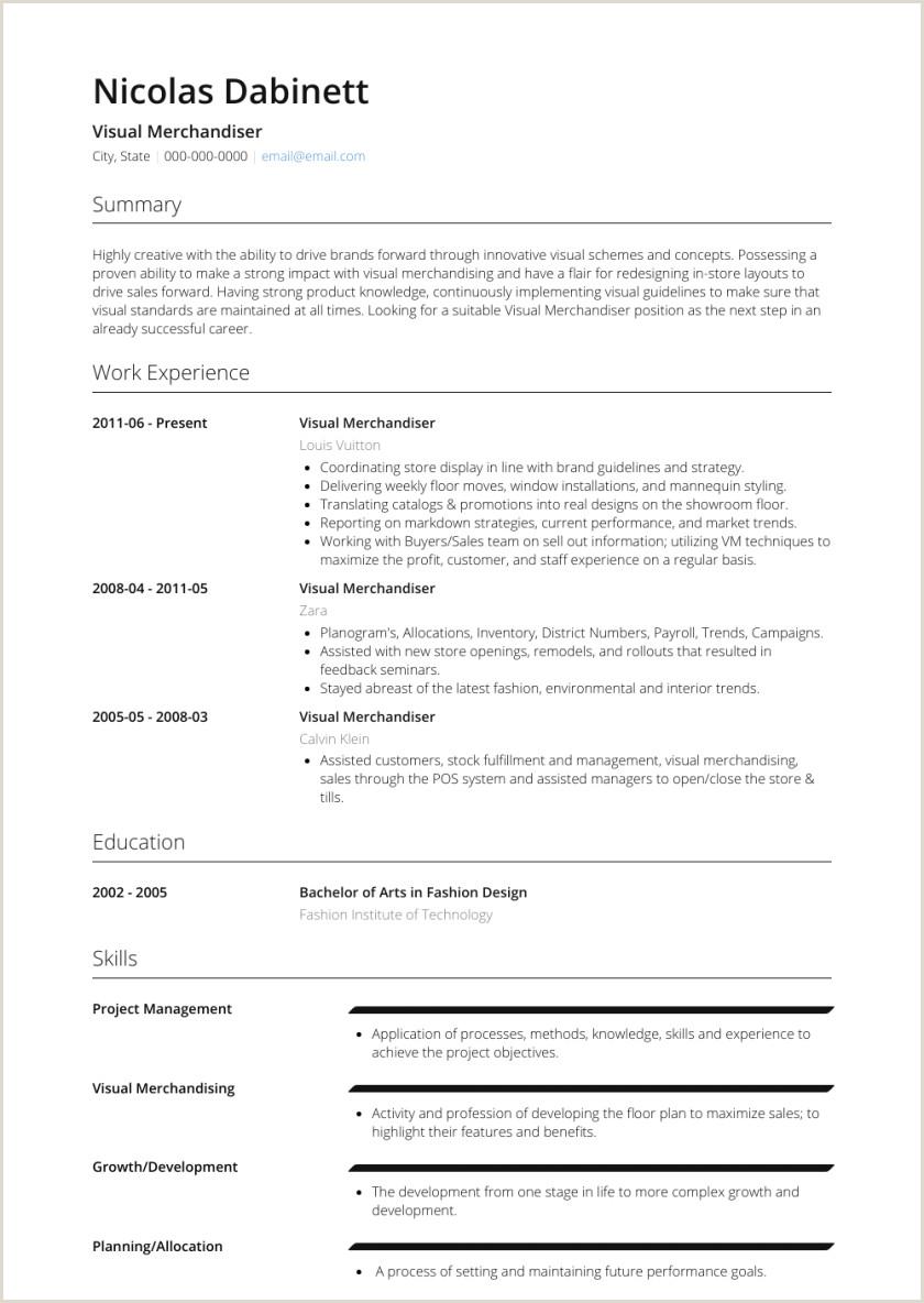 Resume format for Garments Job Visual Merchandiser Resume Samples Templates Visualcv Sample