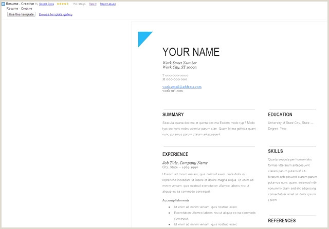 Resume Format For Google Jobs Google Docs Resume Template Luxe Template Cv Shop Google Doc