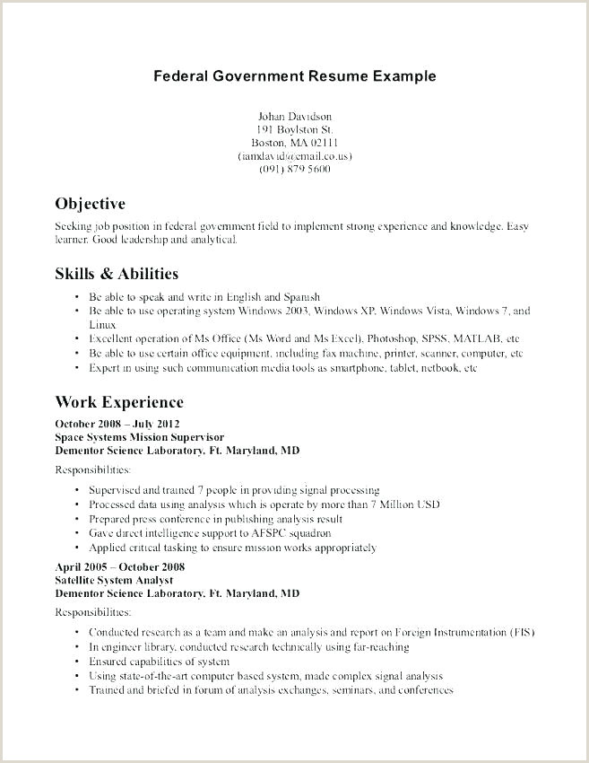 Resume format for Government Job Pdf Federal Government Resume Sample – Hotwiresite