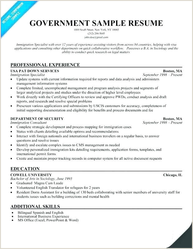 Resume format for Government Job Philippines Resume Samples for First Job – Kliqplan