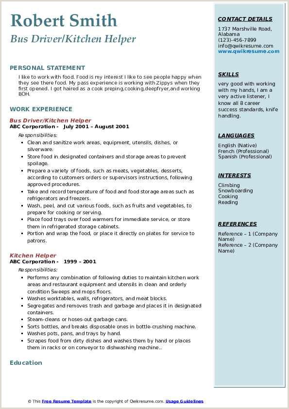 Resume format for Gulf Job Factory Helper Cv