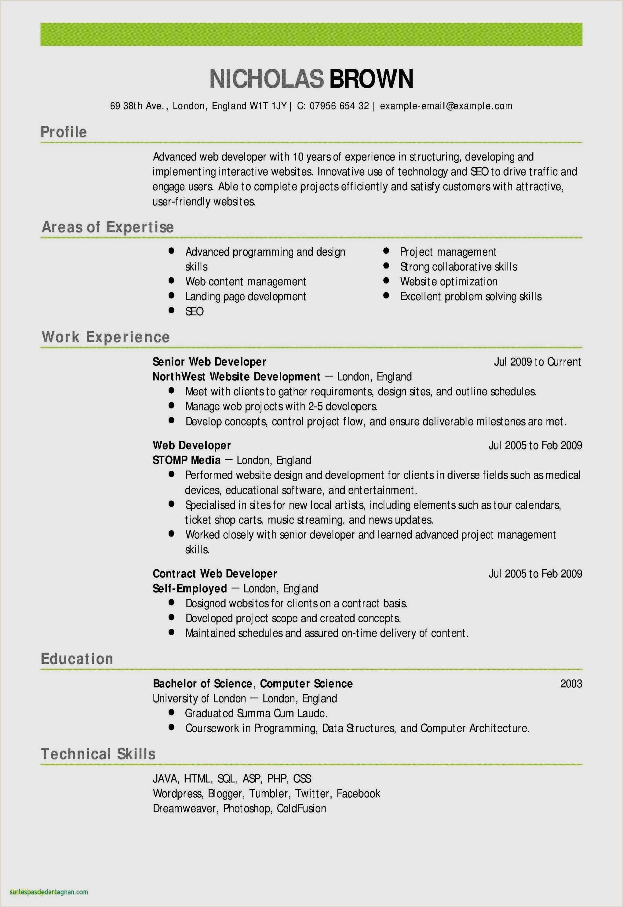 Resume format for Hotel Job Elegant Hotel Job Resume format