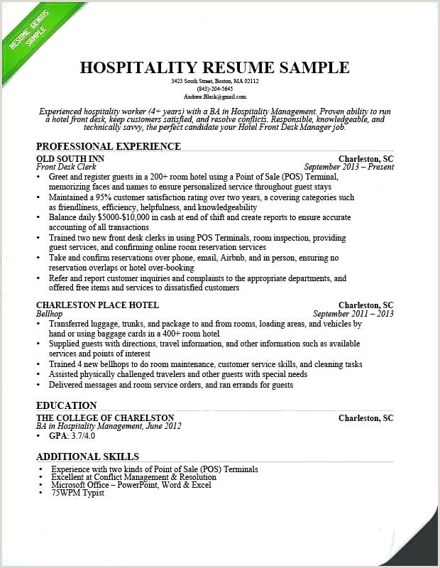 Resume format for Hotel Job Front Office Resume Samples – Growthnotes
