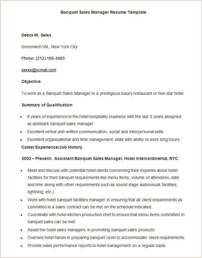 Resume format for Hotel Job Microsoft Word Resume Template 49 Free Samples Examples
