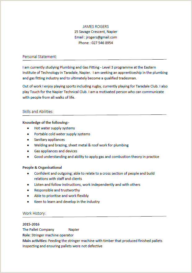 Resume format for Hotel Job Pdf Cv formats and Examples